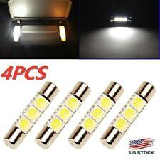 4 x White LED 6614F 6641 TS-14V1CP F30-WHP Fuse Visor Vanity Mirror Light Bulbs
