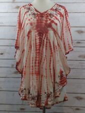 MISS LOVE Scarf Boho Long TOP One SIZE RED Orange WHITE SEQUINS Baby Doll d