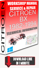 Service Workshop Manual & Repair CITROEN BX 1982-1994 +WIRING   FOR DOWNLOAD