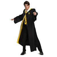 Adult Unisex Harry Potter Hufflepuff Student Cloak Halloween Costume Hooded Robe