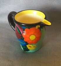 "Czech Pottery Art 3"" Pitcher Creamer, Signed  J Mrazek ~ Art Deco"