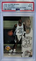 1996 96 The Score Board Kobe Bryant Rookie RC #13, Rare Graded PSA 9, Only 28^