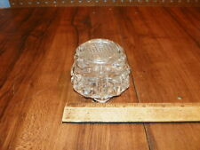 Vintage Art Deco Clear Glass Inkwell w Lid