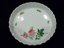 CHRISTINE HOLM PINK ROSE PATTERN PIE AND QUICHE DISH