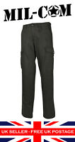 Black OG Heavyweight Cotton Combat Trousers Workwear Patrol Security Police UK