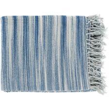 Tanga by Surya Throw Blanket, Navy/Bright Blue - TGN7000-5060