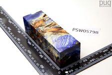PEUPLIER Maser Bois-Bleu-clair stabilisé | 138x43x41 | stabwood | PUQ 5798