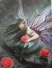 Rose Fairy Plaque/ Fairy Fantasy Canvas Picture/Mystic