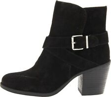 BCB ARIES. REAL Suede Buckle Ankle Boots. Stunning.Black. Sz 6. New.