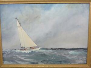 Yachts Britannia Cup 1951 Americas Cup American Artist Rockwell Brank 8m Yachts