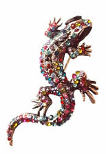 BROOCH Lizard  Colourful Rhinestone Pin-on Fashion Jewellery Mothers Day Gift