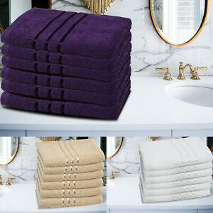 Towelogy® 2x4x6 Luxury Egyptian Cotton Large Hand Towels 500gsm Bathroom Spa Gym