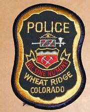 WHEAT RIDGE POLICE Colorado CO PD Colo patch