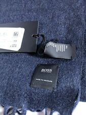 Hugo Boss Made To Measure Made In Italy Cashmere & Silk Blue Scarf.