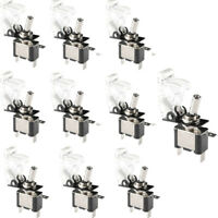 10 X 12V 20A 20Amp White Cover LED Light Toggle Switch SPST ON/OFF Car Auto