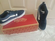 Mens Size 10.5 Vans Filmore Suede Canvas Blue Shoes