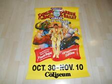 Old 1990 RINGLING BROS. & BARNUM & BAILEY CIRCUS POSTER The Coliseum Advertising