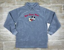 Walt Disney World Womens Pullover Fleece Jacket Mickey Mouse Embroidered Gray M