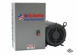 3HP UL-Listed Rotary Phase Converter - UL-3 NEW, Made in USA, Baldor Generator