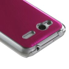 For T-Mobile HTC Radar 4G METAL Cosmo HARD Protector Case Phone Cover Hot Pink