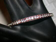Vintage British Silver Bracelet Rhinestones All Around.