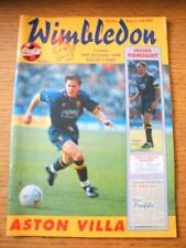 26/11/1996 Wimbledon v Aston Villa [Football League Cup] (Team Changes). No obvi