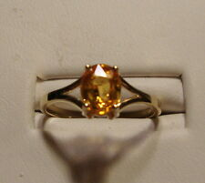 NEW Golden Yellow Sapphire Ring  10k Yellow Gold Size 6.0
