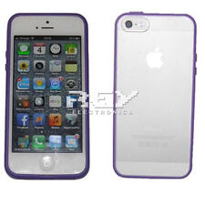 Funda Compatible con iPhone 5 Carcasa Tamizado Color Lila i95