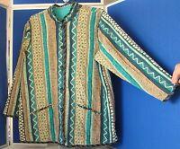Gorgeous KOOS Of COURSE! Reversible TOP/ TUNIC Jacket PLUS Sz 1X FRESHLY CLEANED