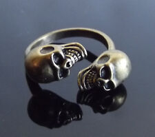 Brass Skull Ring Adjustable Sizable Fashion Ring