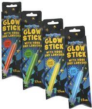 Resplandor de luz palos con Gancho y cordón tamaño 15cm-Hen Stag Fiesta Bolsas Glowsticks