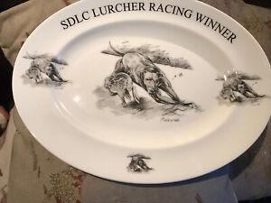 Hunting Coursing Lurcher Plate SDLC Lurcher racing winner