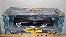 1/18 ERTL AMERICAN MUSCLE CUSTOM 1949 MERCURY COUPE BLACK with GREY INTERIOR bd
