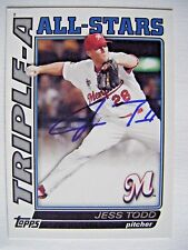 JESS TODD signed CARDINALS INDIANS 2010 Topps Pro Debut baseball card AUTO TA-30