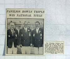 1949 Worthing Pavilion Club Bowls Triple, Skingley, Brazier, Mann
