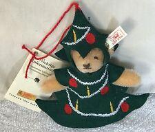 ❤️STEIFF CHRISTMAS TEDDY BEAR 🐻 IN TREE ORNAMENT 🎄 HANGER 665417 LE BOX 1997❤️