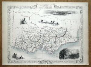 AUSTRALIA, VICTORIA or Port Philip, gold fields, Rapkin antique map c1850