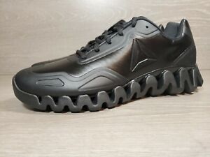 REEBOK ZIG PULSE Men's (DV5220) AA12 BLACK PATENT Referee Shoes SZ 10 USA