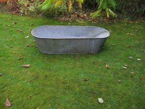 VINTAGE GALVANISED BATH TUB