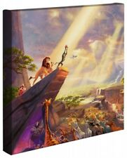 Thomas Kinkade Wrap Lion King 14 x 14 Gallery Wrapped  Disney