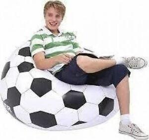 Jilong Inflatable Chair Soccer Football Design Chequered 108cm x 108cm x 68cm by