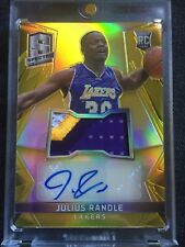2014-15 Julius Randle GOLD PRIZM AUTO Refractor /10 RC Rookie Patch RARE Lakers