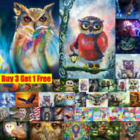 DIY Bird Owl Eagle Full Drill 5D Embroidery Painting Cross Stitch Kit Wall Decor