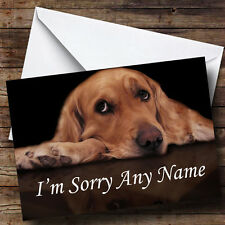 Triste Perro Personalizado perdón tarjeta de saludos
