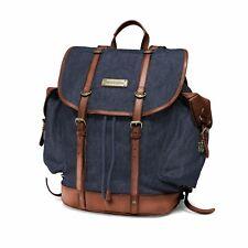 Vintage Rucksack DRAKENSBERG KIMBERLEY Backpack Denim Blau Outdoor Leder Jeans