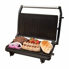 Compact 2 Slice Electric Panini Press Grill 700w Non Stick With Floating Hinge