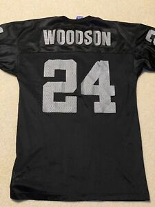 Champion Authentic NFL Oakland Raiders Charles Woodson 24 Jersey Mens 44