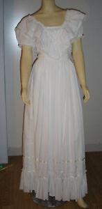 schönes Vintage Brautkleid von Pronuptia Paris lang zarte baumwolle gr. 36