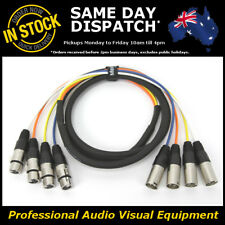 2-Metre 4-Way XLR Multicore Male-Female M-F Microphone Mic PA Cable Lead Cord 2M