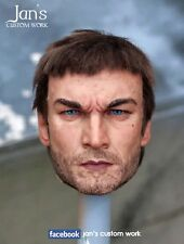 1/6 CUSTOM REPAINT REHAIR Andy Whitfield spartacus head hot toys roman warrior